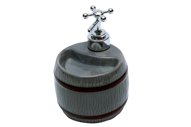 Home Creations Soap Dispenser 250 ml Lotion, Shampoo Dispenser(Grey)
