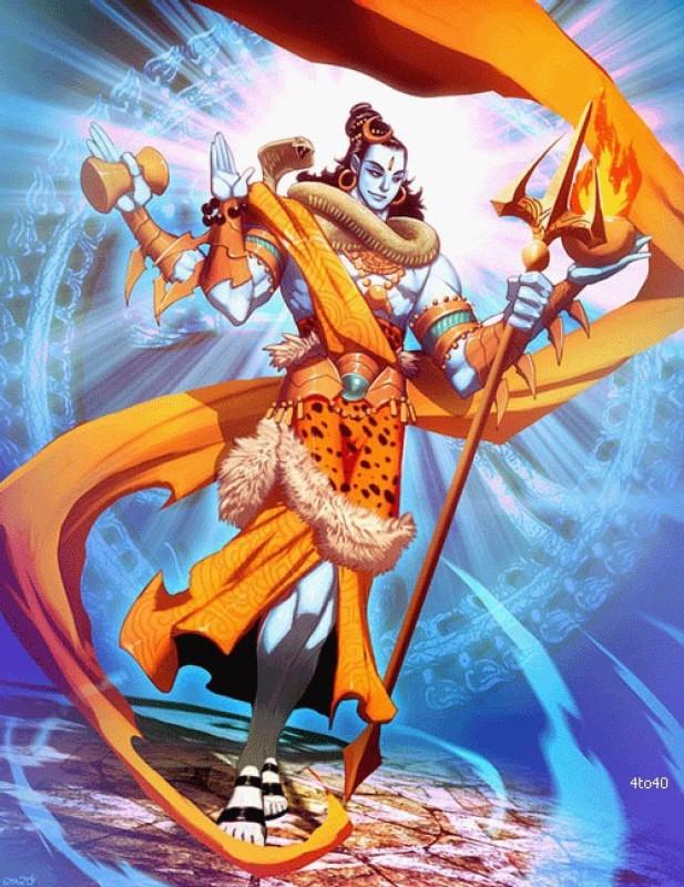 mahalaxmi GODS MAHADEV OM NAMAH SHIVAY ON HI QUALITY LARGE PRINT 36X24 INCHES Photographic Paper(36 inch X 24 inch, Rolled)