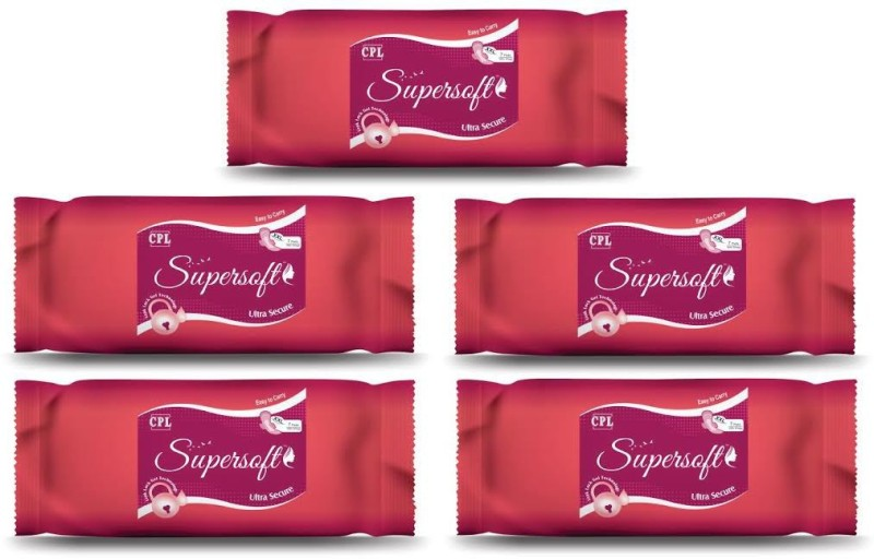 SUPERSOFT SUPERSOFT ULTRA SECURE XXL Sanitary Pad(Pack of 5)