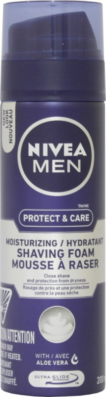 Nivea Men Protect & Care Moisturizing Hydratant Shaving Foam with Aloe Vera(200 ml)