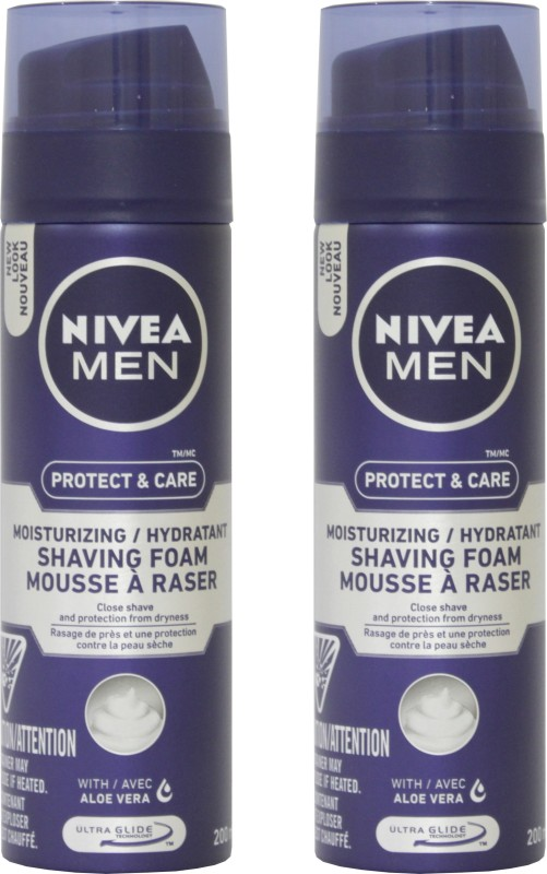 Nivea Men Protect & care Moisturizing/Hydratant Shaving Foam Combo(400 ml)
