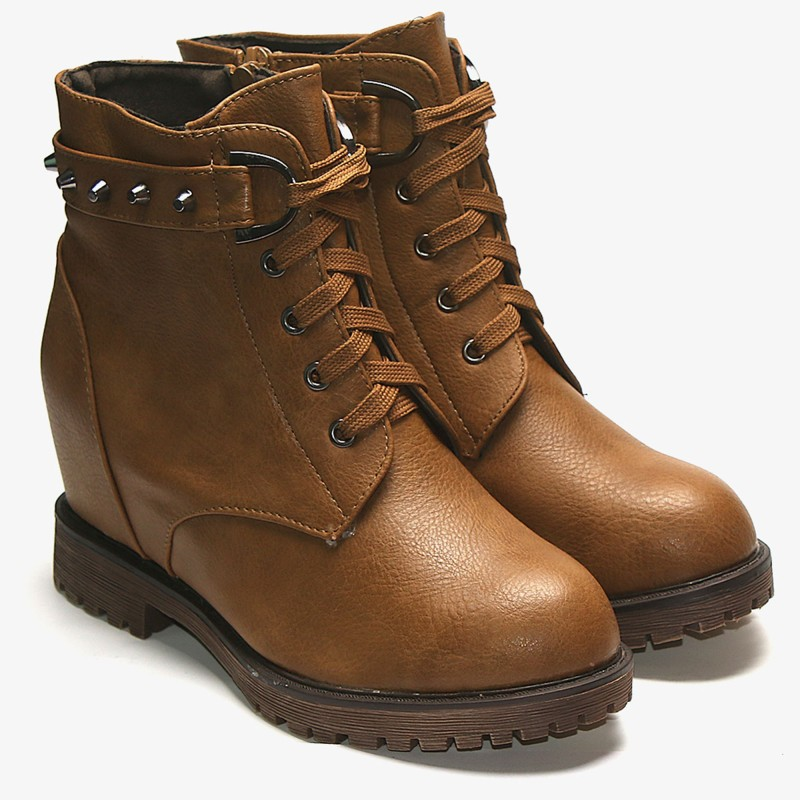 TEN Tan Flat Boot Boots For Women(Tan)
