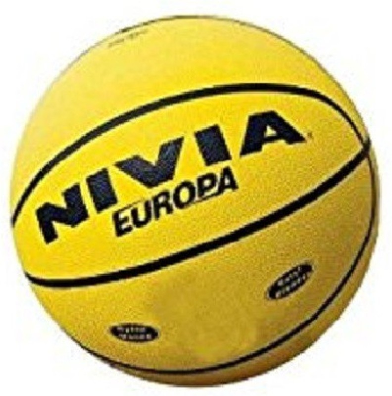 Nivia Europa (Yellow) Basketball - Size: 5(Pack of 1, Multicolor)