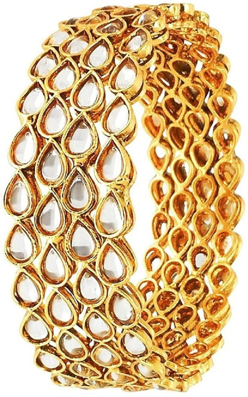 aabhu Alloy Gold-plated Bangle Set(Pack of 4)