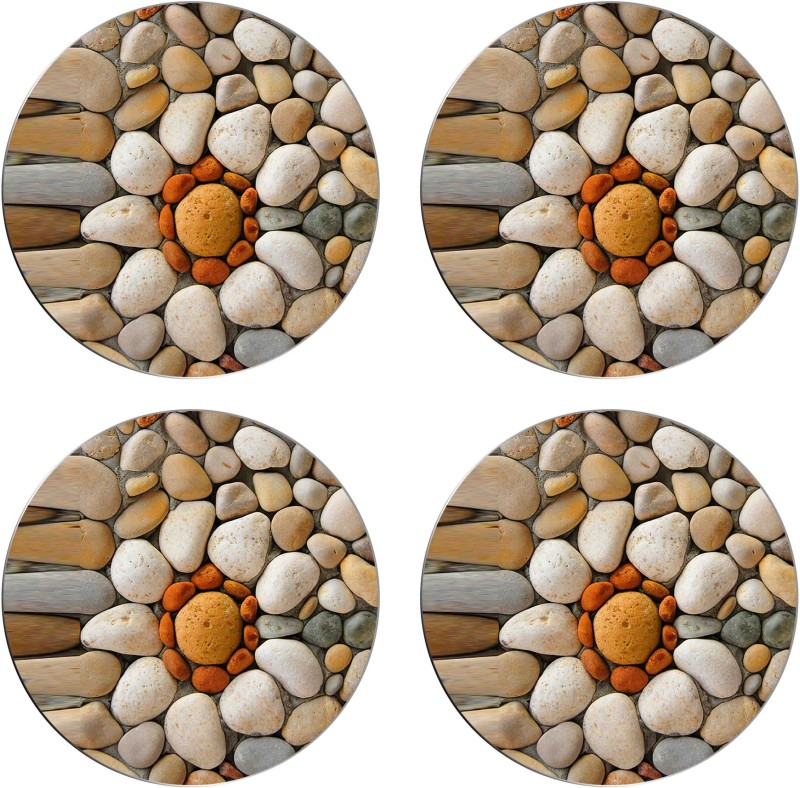 Snooky Round Acrylic Coaster Set(Pack of 4)