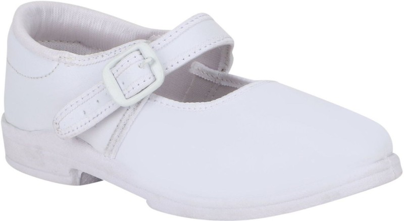 Pollo Girls Strap Formal Boots(White)