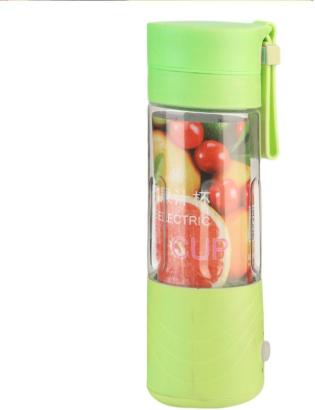 PH Artistic Portable Wireless Rechargeable Juice Cup Mini Automatic Fruit Smoothie Cider Device 250 Juicer Mixer Grinder(Green, 1 Jar)