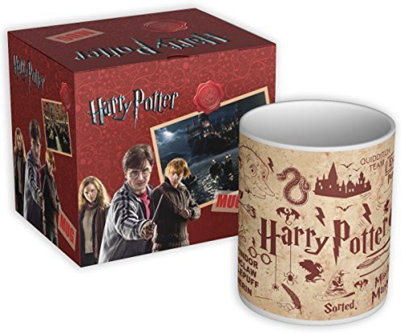 "MCSIDRAZZ Mc Sid Razz Official ""Harry Potter"" - Red - Coffee - licensed by Warner Bros Ceramic Mug(350 ml)"