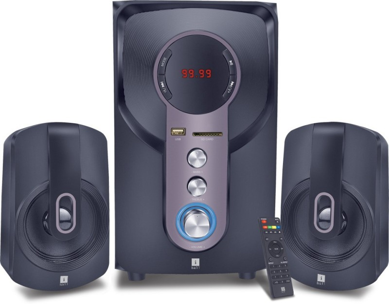 iball Hi-Basss Bluetooth Home Audio Speaker(Black, 2.1 Channel)