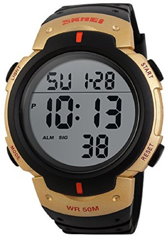 Skmei LED Digital Military Boy's Watch Water Resistant Alarm Day Date Stopwatch for Sports Boy's Watch image