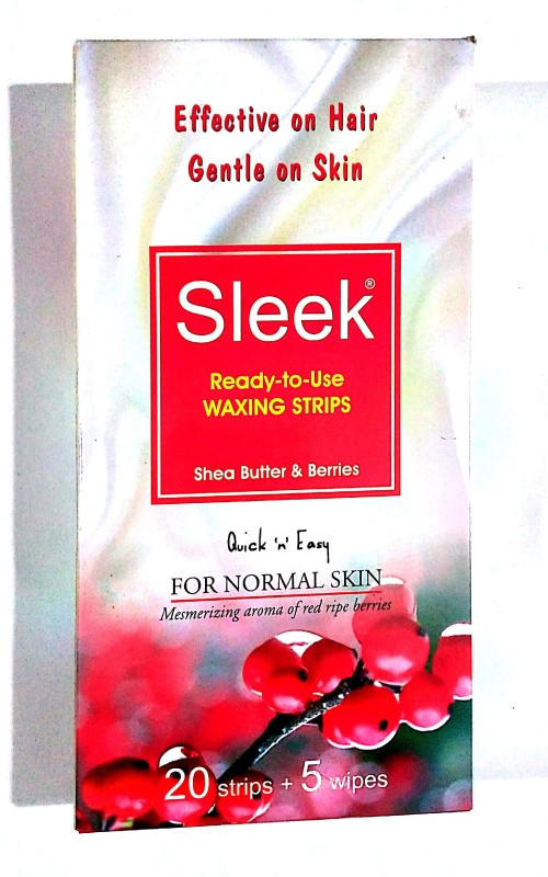 SLEEK Waxing Strips for Normal Skin Strips(5 g)