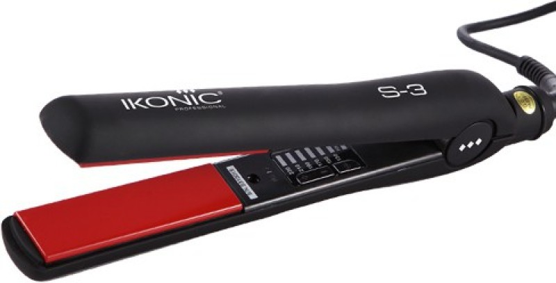 Ikonic SS3 CERAMIC STRAIGHTNER Hair Straightener(Black)