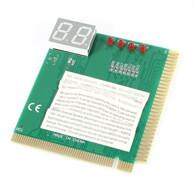 Buyyart New Diagnostic Post Card PCI ISA Analyzer Tester With User Manual For Motherboard(Green)