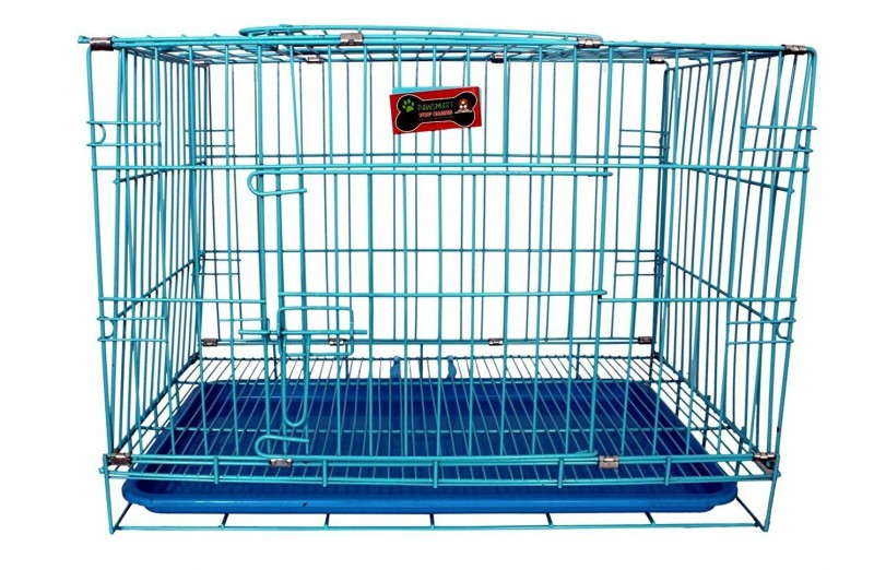 Foodie Puppies Imported High Quality Puppy/Small Pet Cage With Removable Tray (28Inch) (BLUE) Dog, Cat House