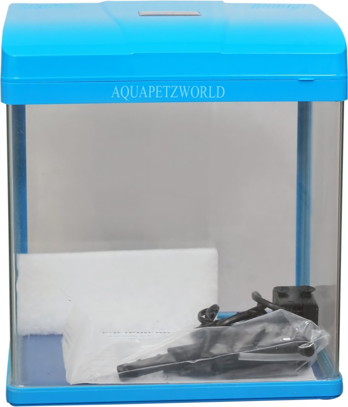 Aquapetzworld Pufeit PF-285 Aquarium Fish Tank-13L-BLUE Rectangle Aquarium Tank(13 L)