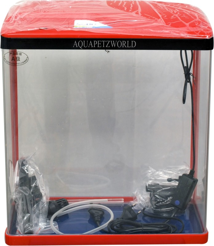 Aquapetzworld SOBO SO-400F Aquarium Fish Tank(30L)-RED Rectangle Aquarium Tank(30 L)