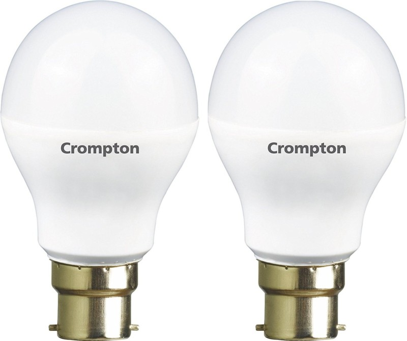 Crompton 3 W Standard B22 LED Bulb(Yellow, Pack of 2)