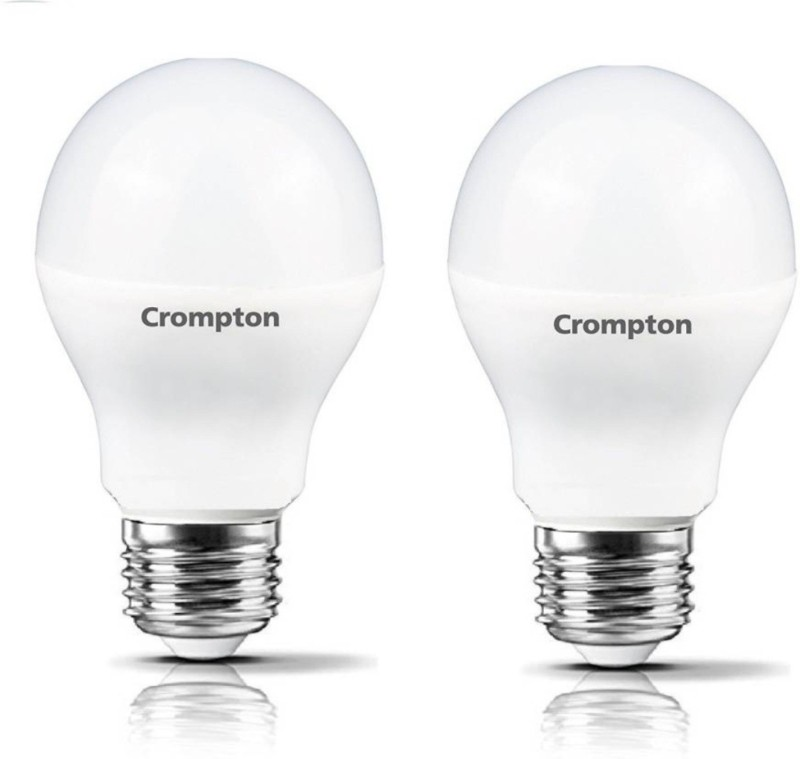 Crompton 7 W Standard E27 LED Bulb(Yellow, Pack of 2)