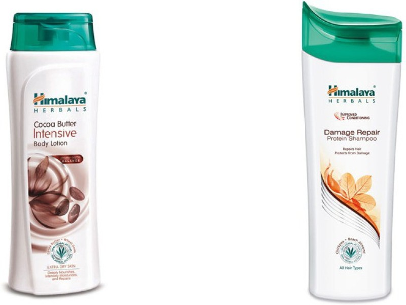 Himalaya coca butter intensive body lotion, damage repair protein shampoo(2 Items in the set)