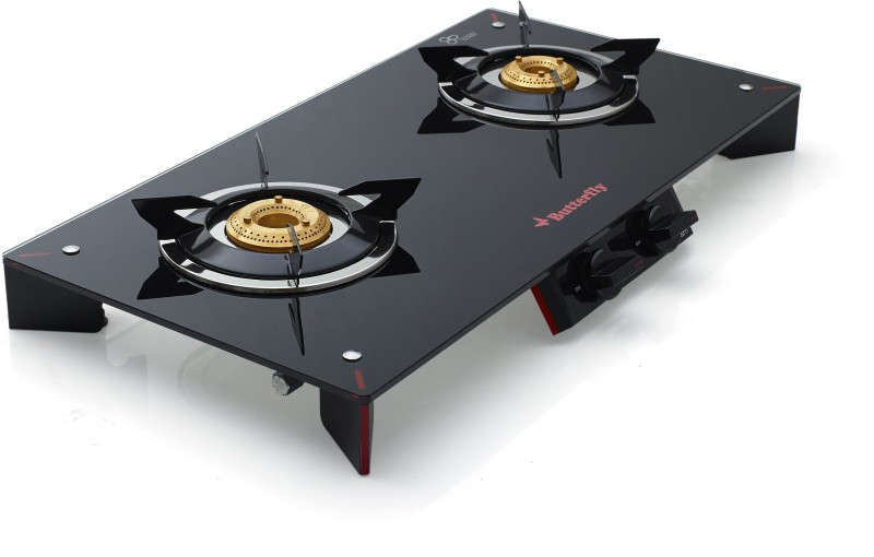 Butterfly Prism+ Glass Manual Gas Stove(2 Burners)