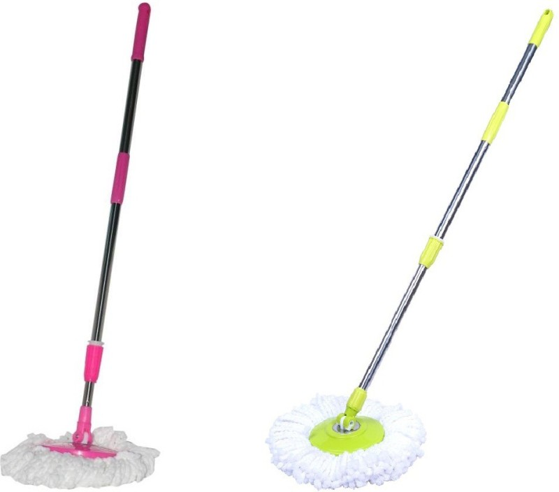 Fun2dealz Pink & Green mop cleaning stick set Wipes(Multicolor)