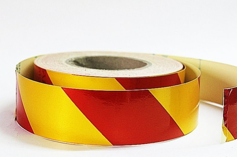 Laps of Luxury GD463 Yellow and Red Radium 50.8 mm x 14.63 m Multicolor Reflective Tape(Pack of 1)