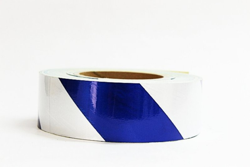 Laps of Luxury GD491 Blue and Silver Radium 50.8 mm x 3.65 m Multicolor Reflective Tape(Pack of 1)