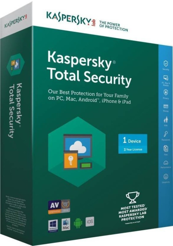 KASPERSKY TOTAL SECURITY 10 DEVICES 1 YEAR