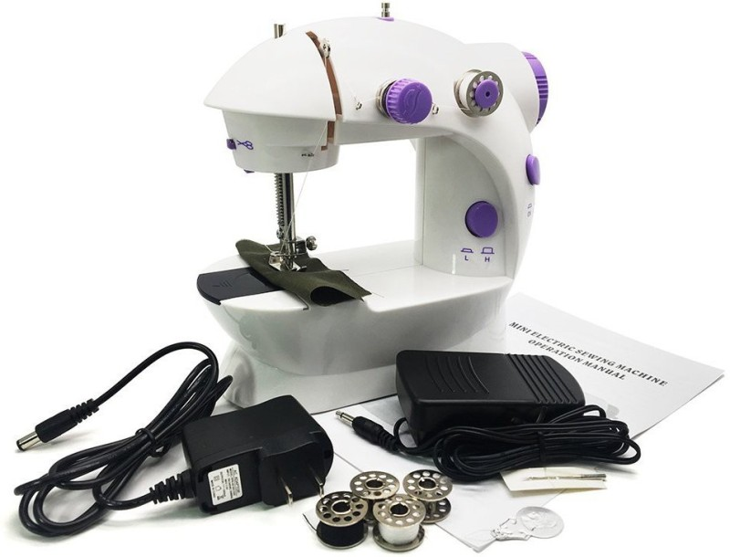 Wonder World Mini Portable Sew 2-Speed Sewing Machine with 4 Bobbins[US STOCK] Electric Sewing Machine( Built-in Stitches 1)