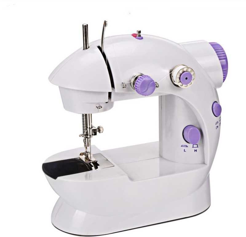 Wonder World Mini Portable 2-Speed Double Thread, Double Speed, With Small Light, With Foot Pedal AC100-240V Electric Sewing Machine( Built-in Stitches 1)