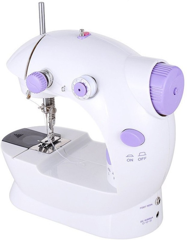 Wonder World Mini Sewing Machine, Portable Electric Crafting Mending Machine 2-Speed Double Thread, Double Speed with Light & Cutter, Foot Pedal for Household Travel Beginner Electric Sewing Machine( Built-in Stitches 1)