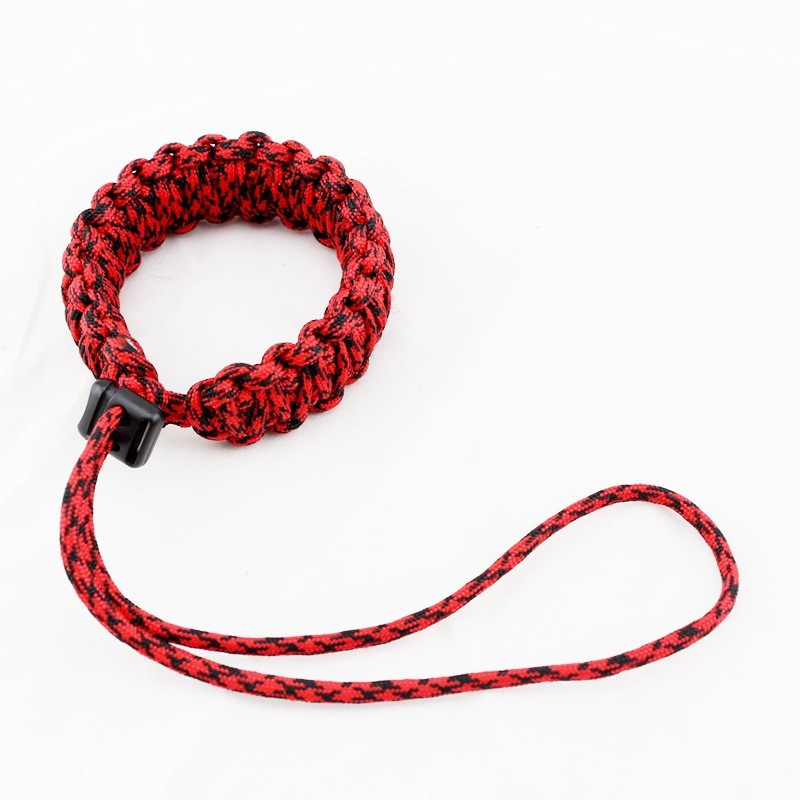 Techlife Solutions Red Color Braided Paracord Camera Adjustable Wrist Strap/ Wristband Strap(Red, Black)