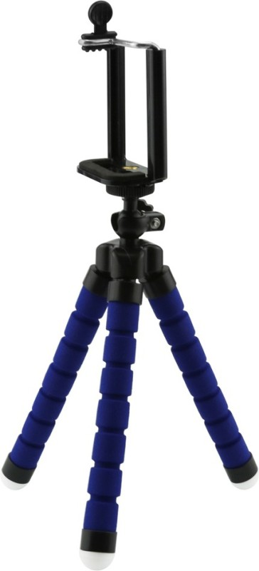 Techlife Solutions Blue Flexible Mini Tripod Stand For Digital Camera & Mobile Phones - High Quality Tripod(Blue, Supports Up to 500 g)