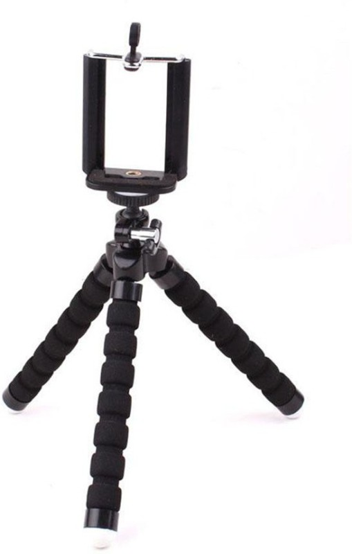Techlife Solutions Black Flexible Mini Tripod Stand For Digital Camera & Mobile Phones - High Quality Tripod(Black, Supports Up to 500 g)
