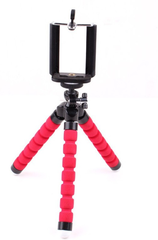 Techlife Solutions ed Flexible Octopus Style Big Tripod For Mobile Phone, Camera, DSLR, Smartphones With Universal Mobile Monopod Mount Adapter Tripod(Red, Supports Up to 500 g)