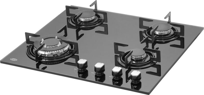 Kaff NE4B 60GF Glass Automatic Gas Stove(4 Burners)