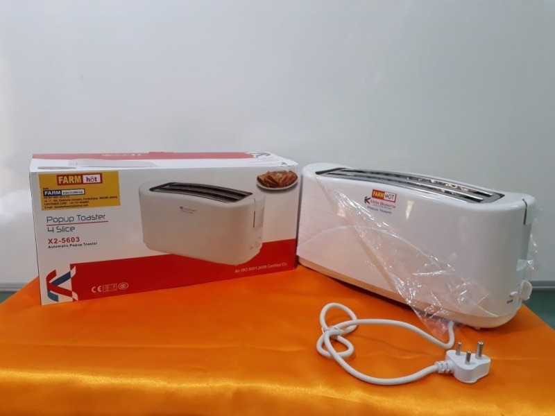 Farm Electronics FE-5603 650 W Pop Up Toaster(White)