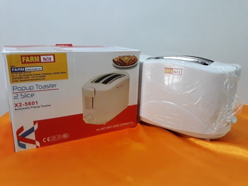 Farm Electronics FE-5601 650 W Pop Up Toaster(White)