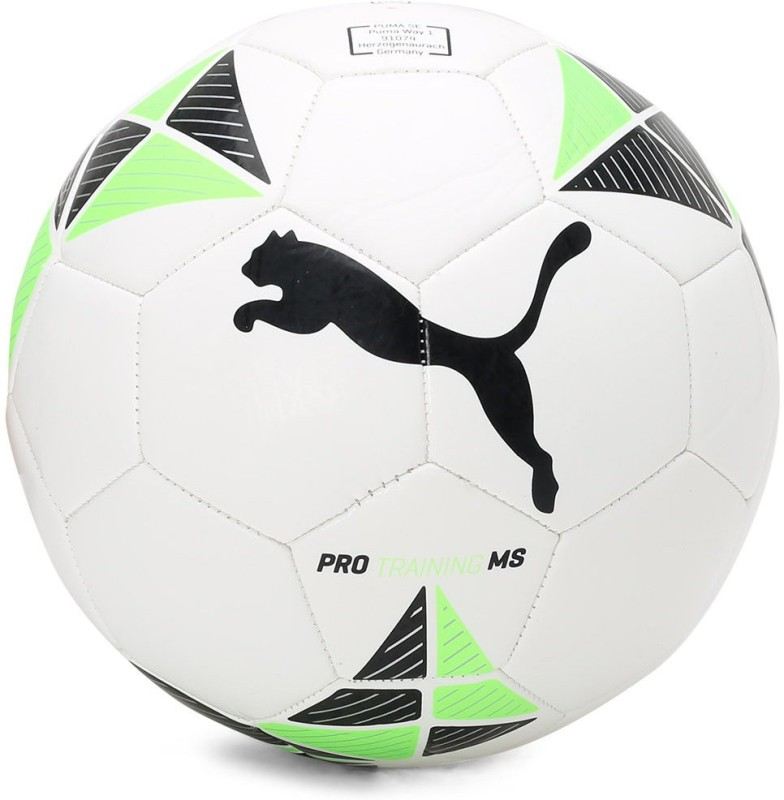 Puma Pro Training MS ball Football - Size: 5(Pack of 1, White)