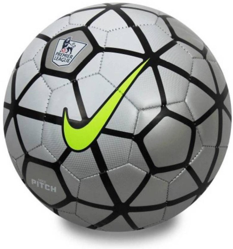 nas nike pitch Football - Size: 5(Pack of 1, Silver)