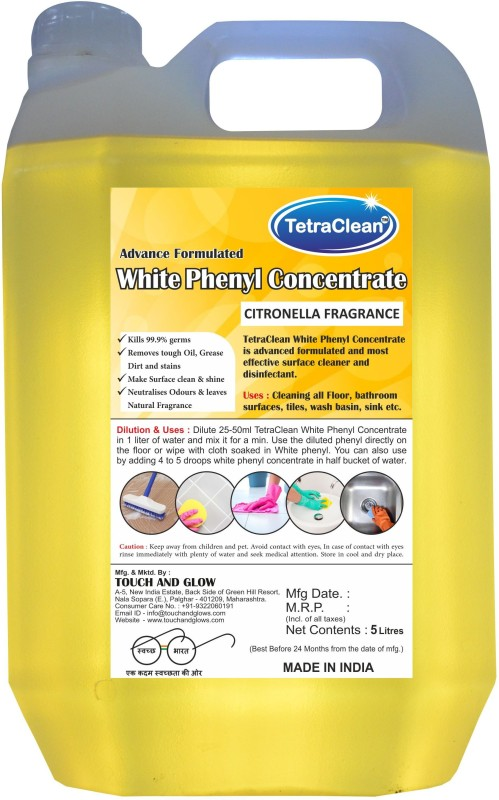 TetraClean Citronilla White Phenyl Concentrate Citronilla(5 L)