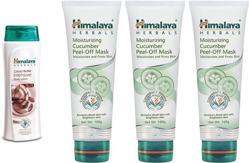 Himalaya coca butter intensive body lotion. moisturizing cucumber peel off mask(4 Items in the set)