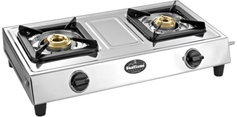 Sunflame shakti ss Stainless Steel Manual Gas Stove(2 Burners)