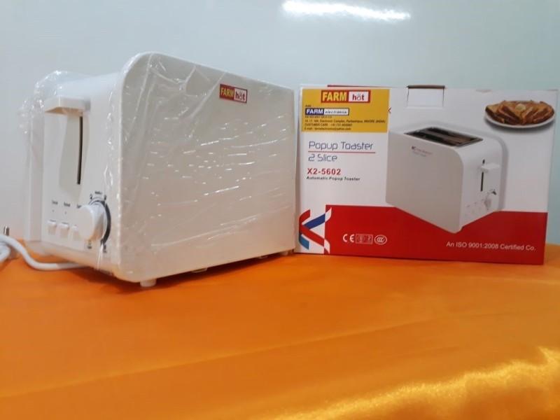 Farm Electronics FE-5602 650 W Pop Up Toaster(White)