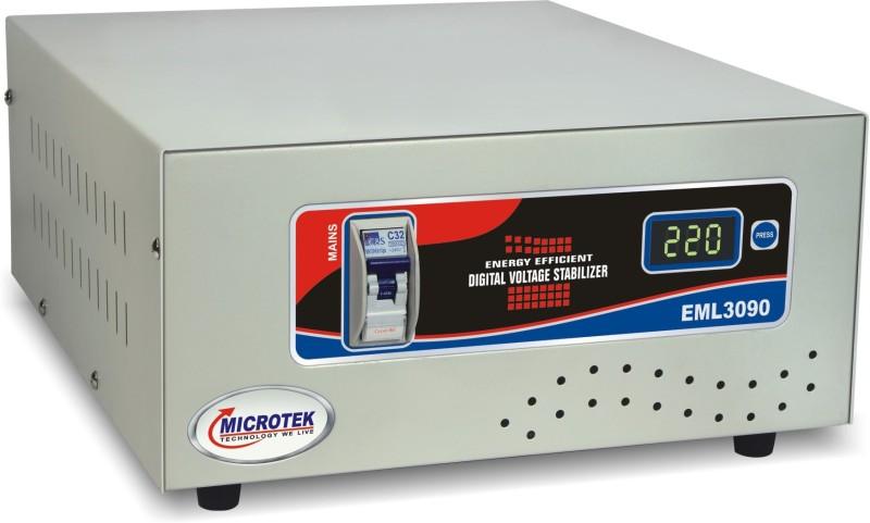 Microtek EML 3090 Voltage Stabilizer For Mainline (10 Amps) (90V 300V)(Grey)