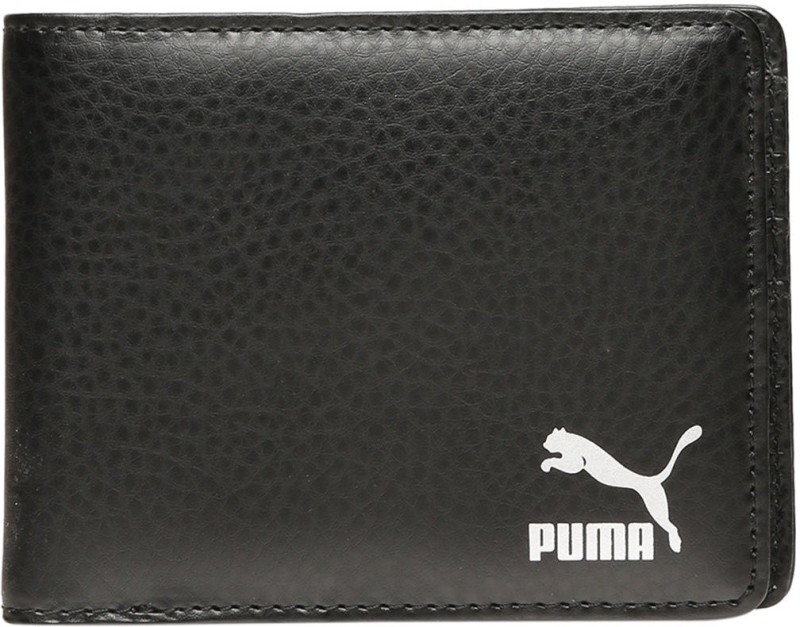 Puma Men Black Artificial Leather Wallet(6 Card Slots)