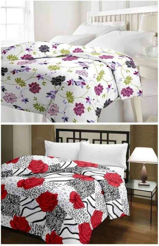 VAMIRA Floral Single Blanket, Dohar, Quilts & Comforters Multicolor(Micro Quilt,...