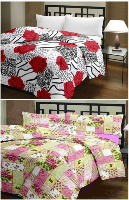 VAMIRA Floral Single Blanket, Dohar, Quilts & Comforters Multicolor(Micro Quilt,...