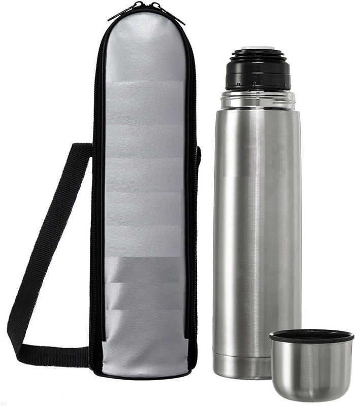 VibeX ® Thermos Cup Insulated Stainless Steel Thermo Mug with Vacuum Flask 1000 ml Flask(Pack of 1, Silver)