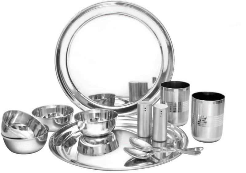 airan ELEGANCE SET PLAIN Dinner Set(Steel)